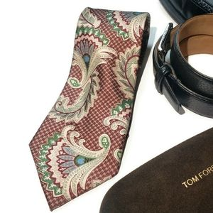 FENDI paisley fan silk tie